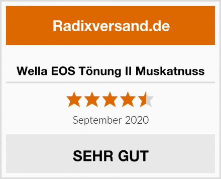 Wella EOS Tönung II Muskatnuss Test