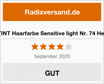 SANOTINT Haarfarbe Sensitive light Nr. 74 Hellbraun Test