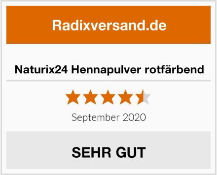Naturix24 Hennapulver rotfärbend Test