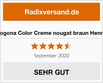 Logona Color Creme nougat braun Henna Test
