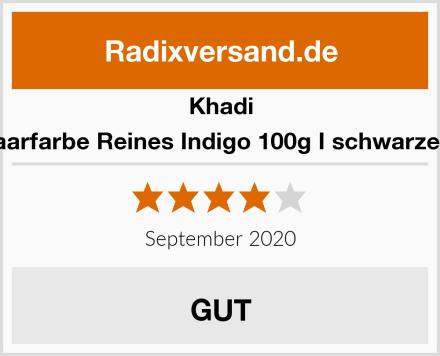 Khadi Pflanzenhaarfarbe Reines Indigo 100g I schwarze Haarfarbe Test
