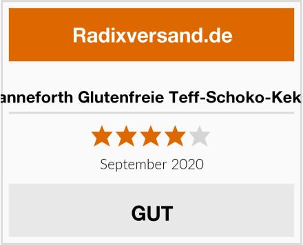 Hanneforth Glutenfreie Teff-Schoko-Kekse Test