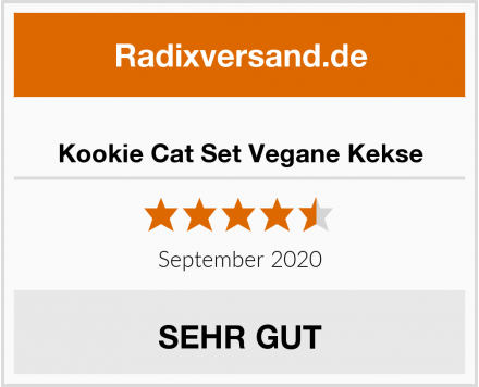 Kookie Cat Set Vegane Kekse Test