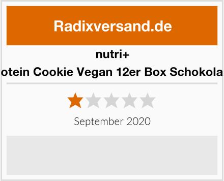 Nutri+ Protein Cookie Vegan 12er Box Schokolade Test