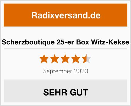 Scherzboutique 25-er Box Witz-Kekse Test