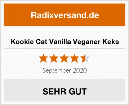 Kookie Cat Vanilla Veganer Keks Test