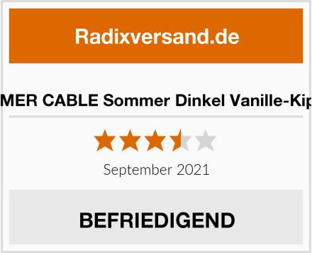 SOMMER CABLE Sommer Dinkel Vanille-Kipferln Test