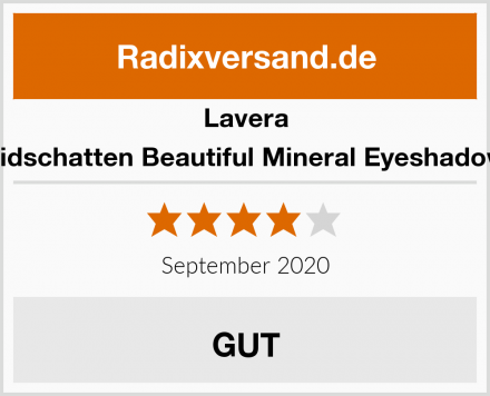 Lavera Lidschatten Beautiful Mineral Eyeshadow Test