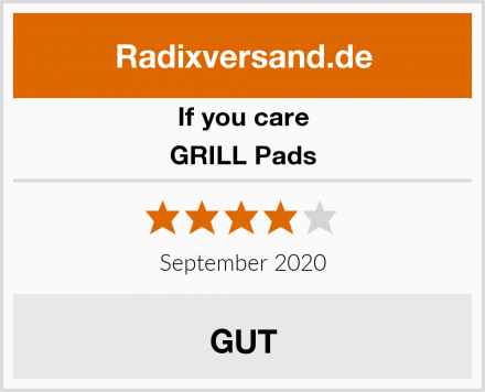 If you care GRILL Pads Test