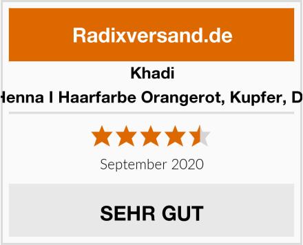 Khadi Reines Henna I Haarfarbe Orangerot, Kupfer, Dunkelrot Test