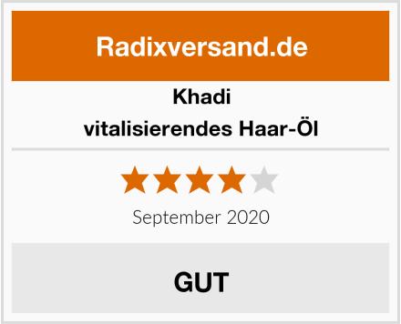 Khadi vitalisierendes Haar-Öl Test