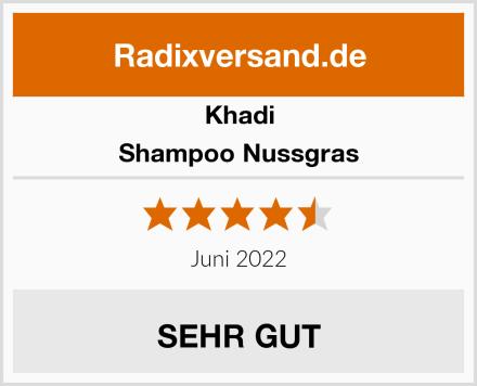 Khadi Shampoo Nussgras Test