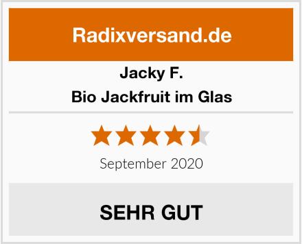 Jacky F. Bio Jackfruit im Glas Test