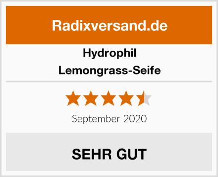 Hydrophil Lemongrass-Seife Test