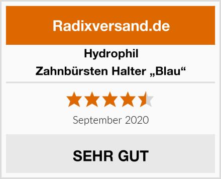 """Hydrophil Zahnbürsten Halter """"Blau"""" Test"""