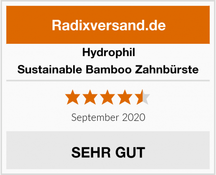 Hydrophil Sustainable Bamboo Zahnbürste Test