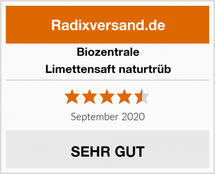 Biozentrale Limettensaft naturtrüb Test