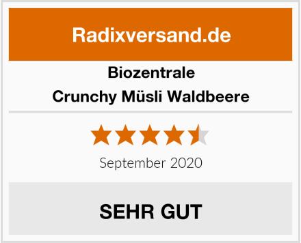 Biozentrale Crunchy Müsli Waldbeere Test