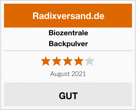Biozentrale Backpulver Test