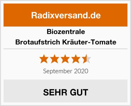 Biozentrale Brotaufstrich Kräuter-Tomate Test