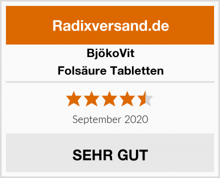 BjökoVit Folsäure Tabletten Test