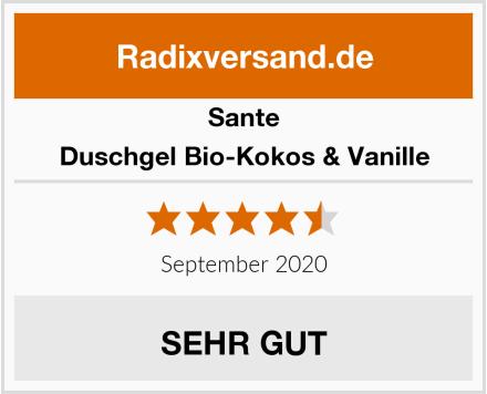 Sante Duschgel Bio-Kokos & Vanille Test