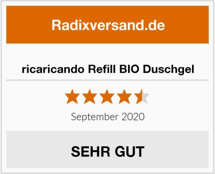 ricaricando Refill BIO Duschgel Test