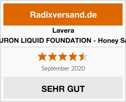 Lavera HYALURON LIQUID FOUNDATION - Honey Sand 03 Test
