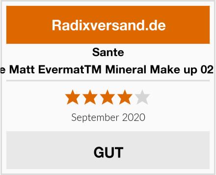 Sante Matte Matt EvermatTM Mineral Make up 02 Sand Test