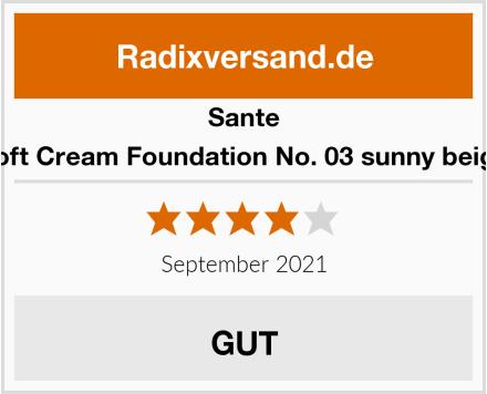 Sante Soft Cream Foundation No. 03 sunny beige Test