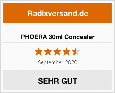 PHOERA 30ml Concealer Test
