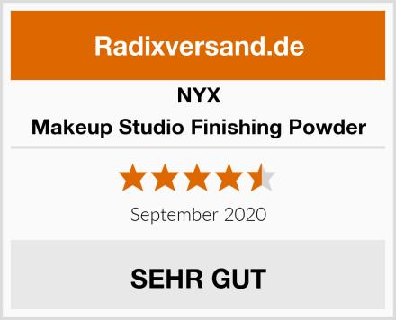 NYX Makeup Studio Finishing Powder Test