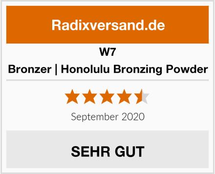 W7 Bronzer | Honolulu Bronzing Powder Test