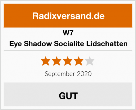 W7 Eye Shadow Socialite Lidschatten Test