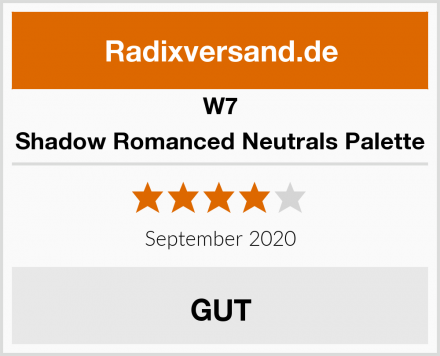 W7 Shadow Romanced Neutrals Palette Test