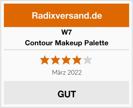 W7 Contour Makeup Palette Test
