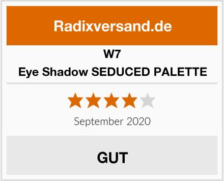 W7 Eye Shadow SEDUCED PALETTE Test