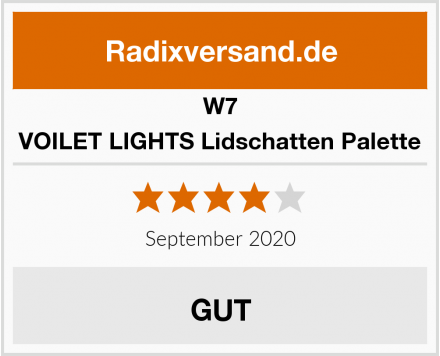 W7 VOILET LIGHTS Lidschatten Palette Test