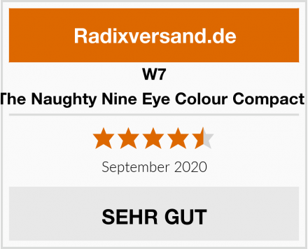W7 Eyeshadow Palette | The Naughty Nine Eye Colour Compact - Mid Summer Nights Test