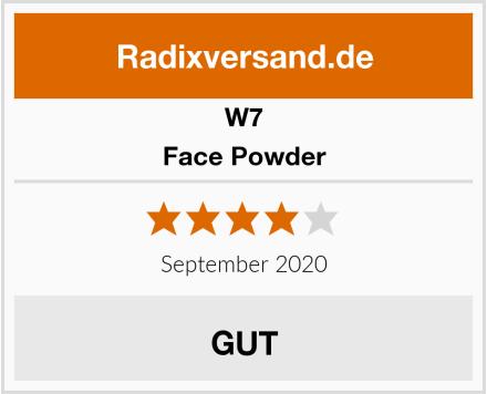 W7 Face Powder Test