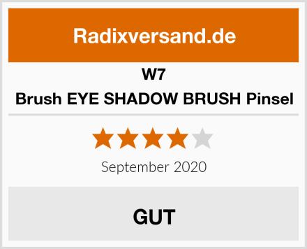 W7 Brush EYE SHADOW BRUSH Pinsel Test