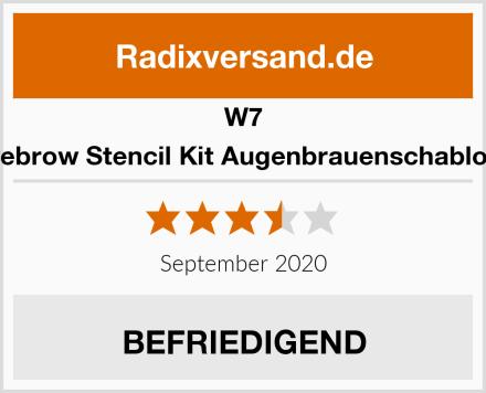 W7 Eyebrow Stencil Kit Augenbrauenschablone Test