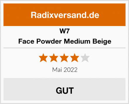 W7 Face Powder Medium Beige Test
