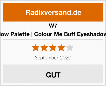 W7 Eyeshadow Palette | Colour Me Buff Eyeshadow Palette Test