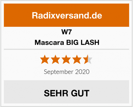W7 Mascara BIG LASH Test