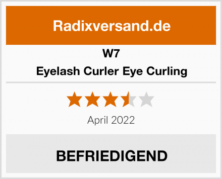 W7 Eyelash Curler Eye Curling Test