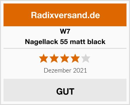 W7 Nagellack 55 matt black Test