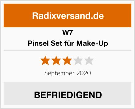 W7 Pinsel Set für Make-Up Test