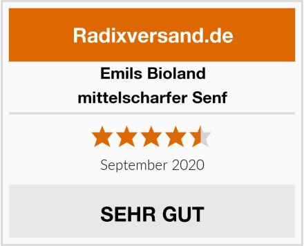 Emils Bioland mittelscharfer Senf Test