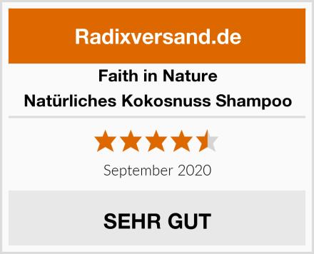 Faith in Nature Natürliches Kokosnuss Shampoo Test